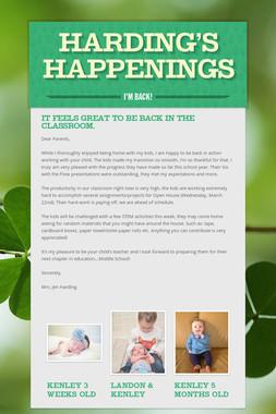 Harding's Happenings