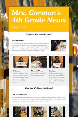 Mrs. Gorman's 4th Grade News