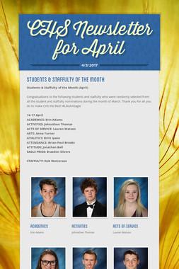 CHS Newsletter for April