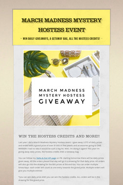March Madness Mystery Hostess Event