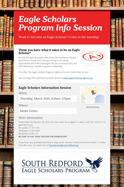 Eagle Scholars Program Info Session