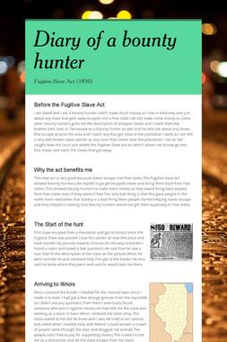 Diary of a bounty hunter