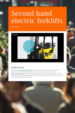 Second hand electric forklifts