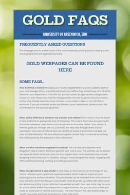 GOLD FAQs