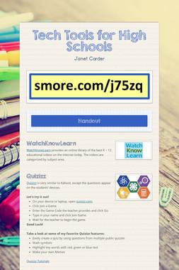 Tech Tools for High Schools