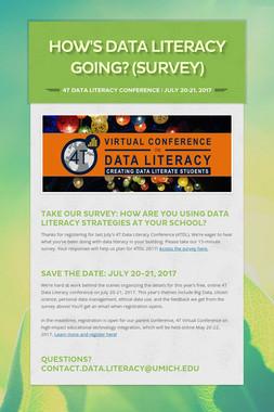 How's data literacy going? (Survey)