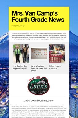 Mrs. Van Camp's Fourth Grade News