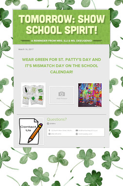 Tomorrow: Show School Spirit!