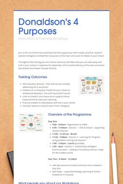 Donaldson's 4 Purposes