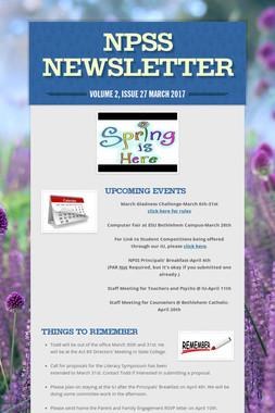 NPSS Newsletter
