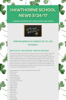 Hawthorne School News 3/24/17