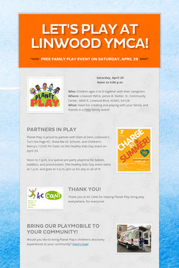 Let's Play at Linwood YMCA!