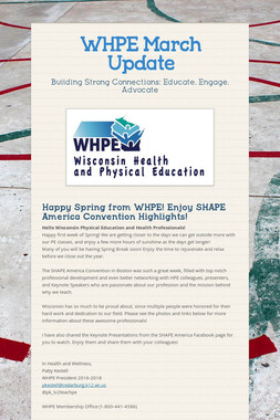 WHPE March Update