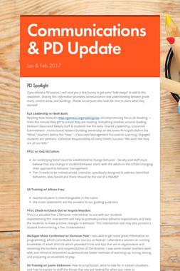 Communications & PD Update