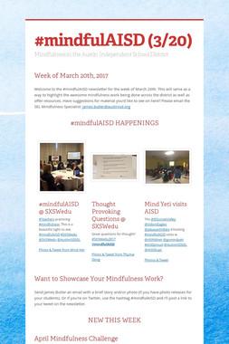 #mindfulAISD (3/20)