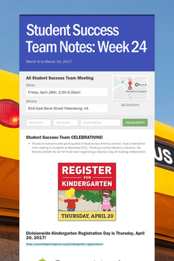 Student Success Team Notes: Week 24