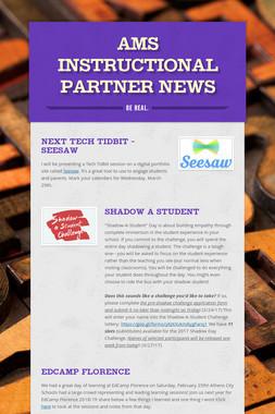 AMS Instructional Partner News