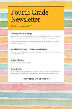 Fourth Grade Newsletter