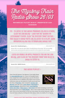 The Mystery Train Radio Show 26/03