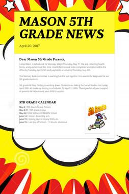 MASON 5TH GRADE NEWS