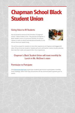 Chapman School Black Student Union