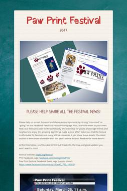 Paw Print Festival