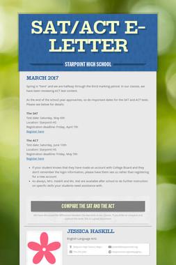 SAT/ACT E-Letter