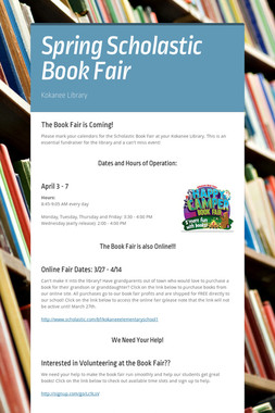 Spring Scholastic Book Fair
