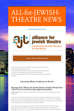 ALL-for-JEWISH-THEATRE NEWS