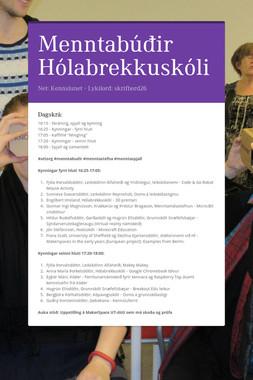 Menntabúðir Hólabrekkuskóli