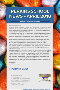 Perkins School News - April 2018