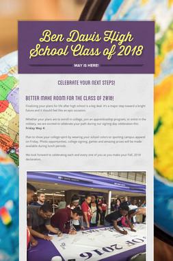 Ben Davis High School Class of 2018