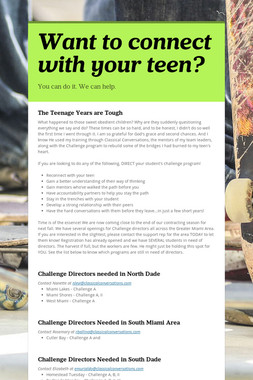 Want to connect with your teen?