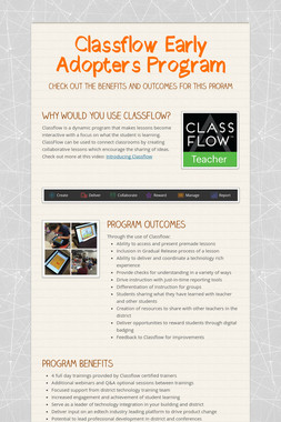 Classflow Early Adopters Program