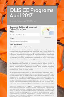 OLIS CE Programs April 2017