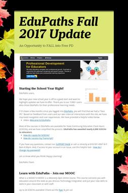 EduPaths Fall 2017 Update