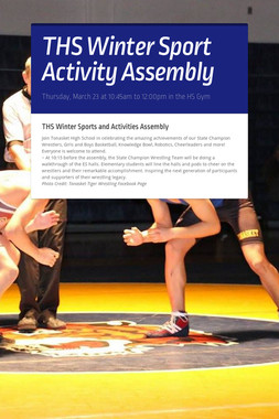 THS Winter Sport Activity Assembly