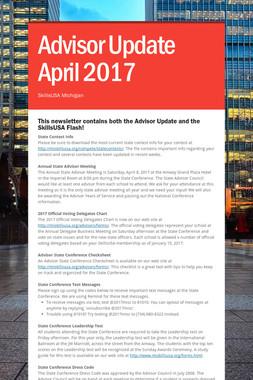 Advisor Update April 2017