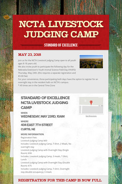 NCTA Livestock Judging Camp
