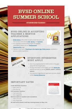 BVSD Online Summer School