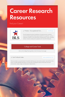 Career Research Resources