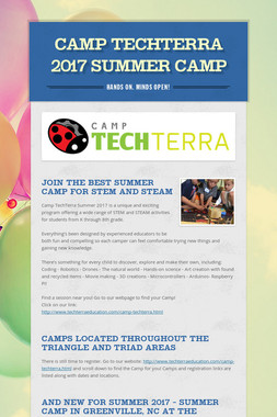 Camp TechTerra 2017 Summer Camp