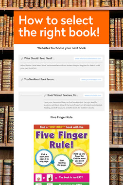 How to select the right book!