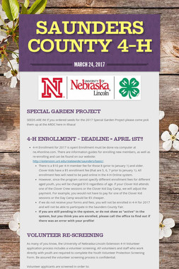 Saunders County 4-H