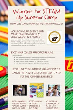 Volunteer for STEAM Up Summer Camp