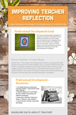 Improving Teacher Reflection