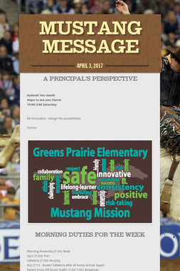 Mustang Message