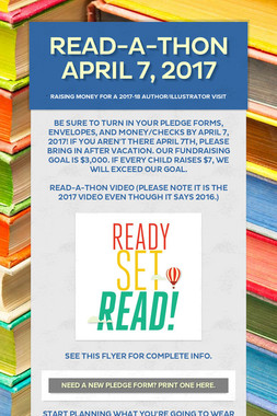 Read-a-Thon April 7, 2017