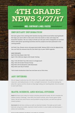 4th Grade News 3/27/17