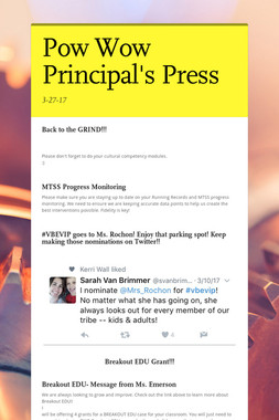 Pow Wow Principal's Press